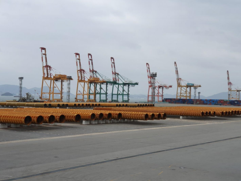 First Pin Piles for Formosa II OWF at Gwangyang Port, South Korea.