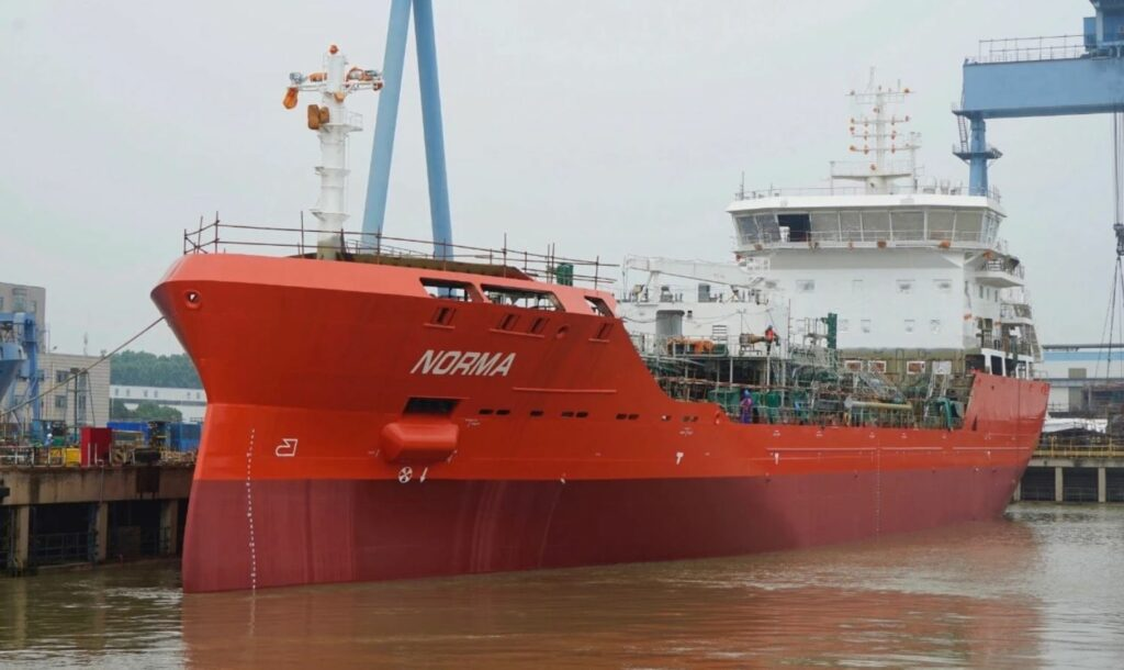 GEFO LNG-ready tanker launched