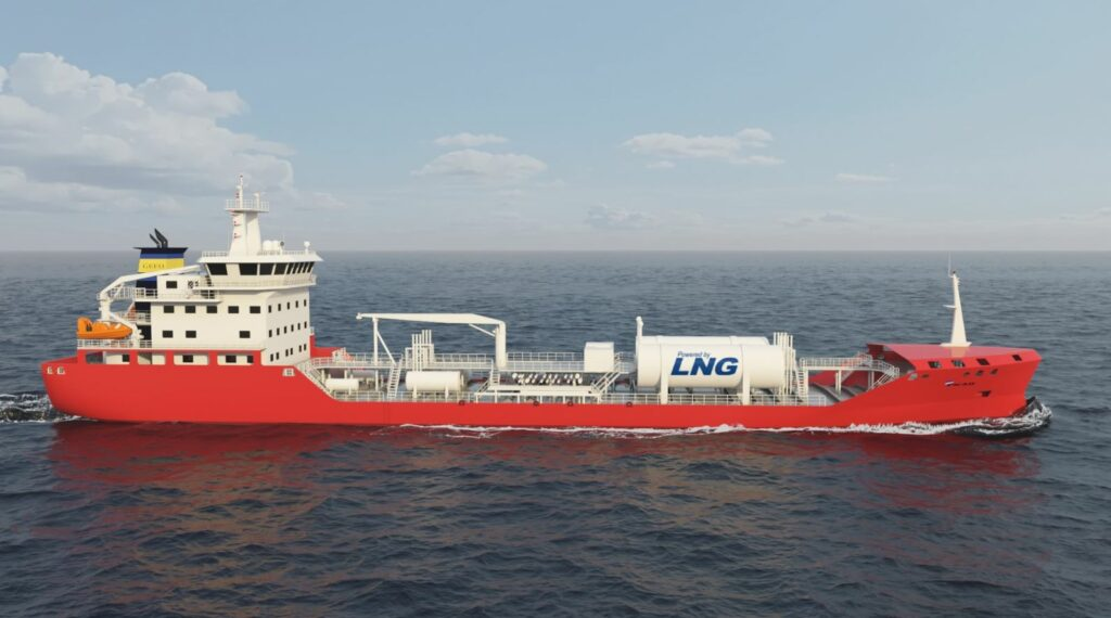GEFO LNG-powered tanker