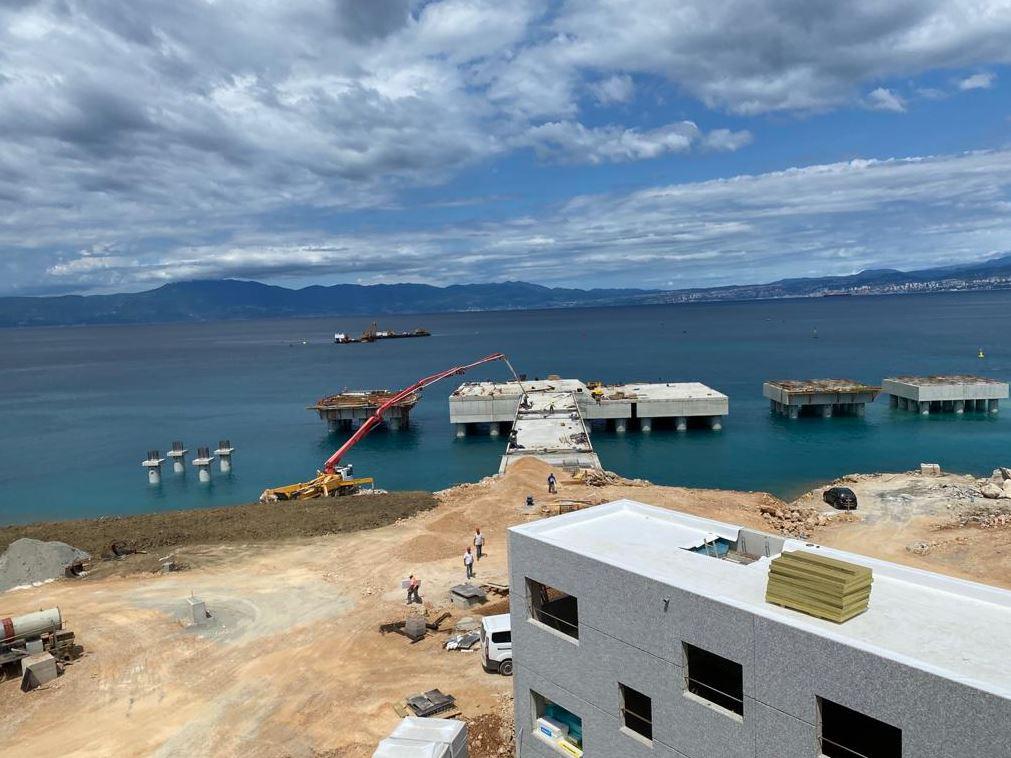 Krk LNG construction works