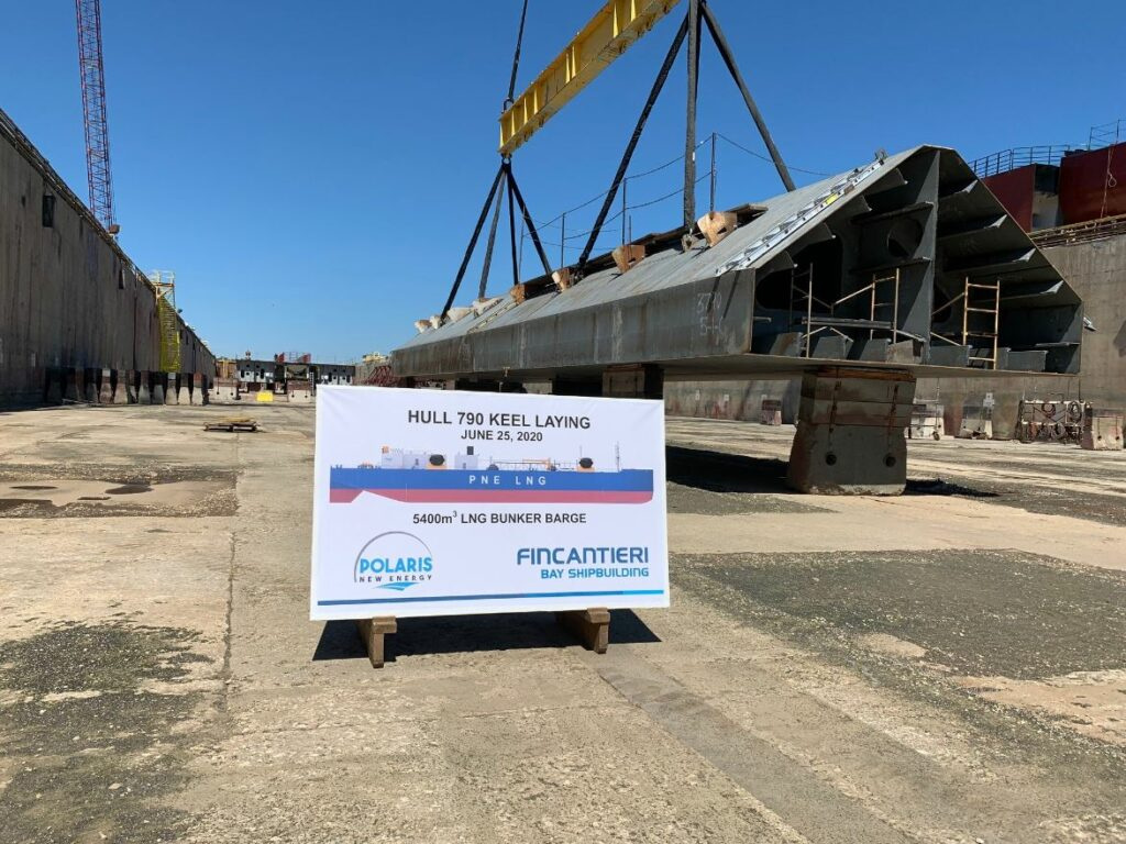 Fincantieri starts work on NorthStar's LNG bunkering barge