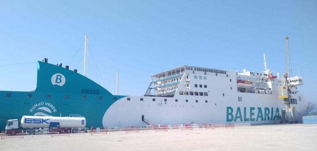 Baleria's ferry in first LNG bunkering