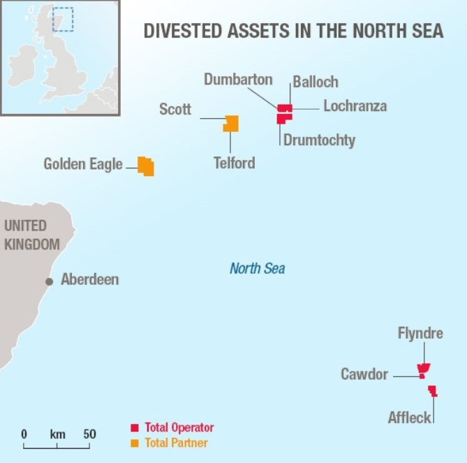 Assets bought by NEO Energy; Source: Total