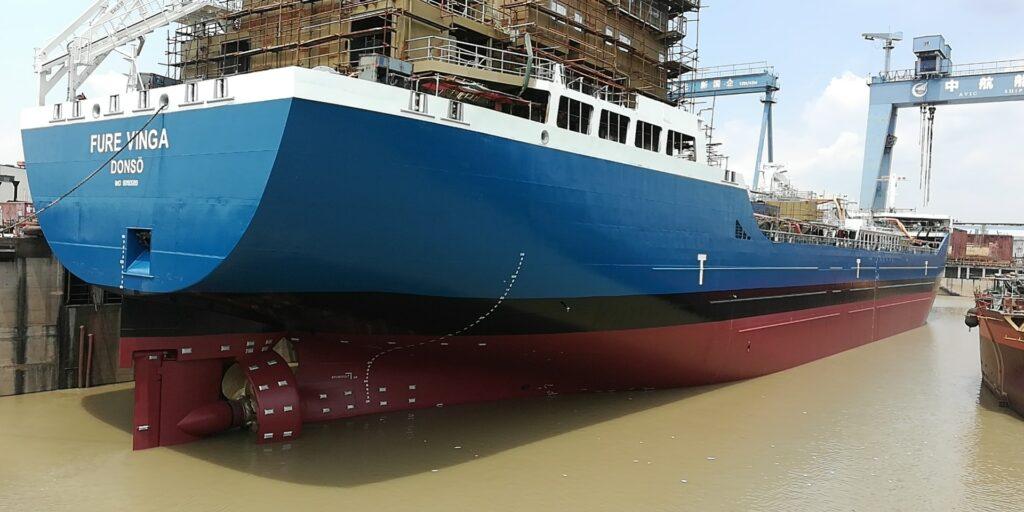 Furetank launches dual-fueled newbuild