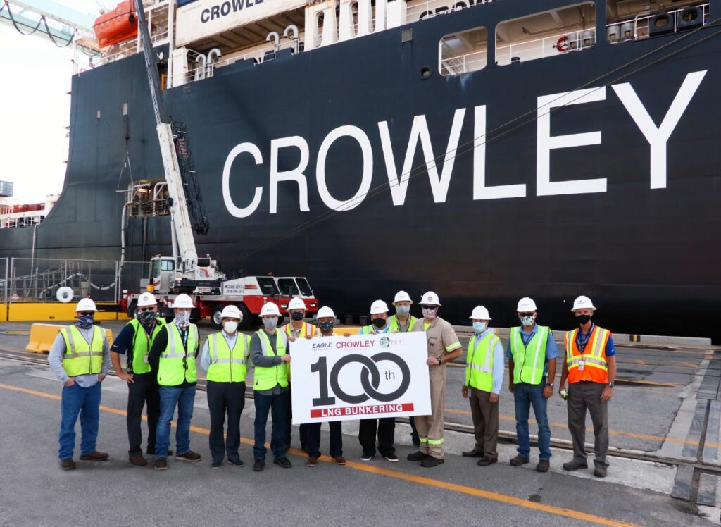 Eagle LNG and Crowley in Jacksonville bunkering milestone