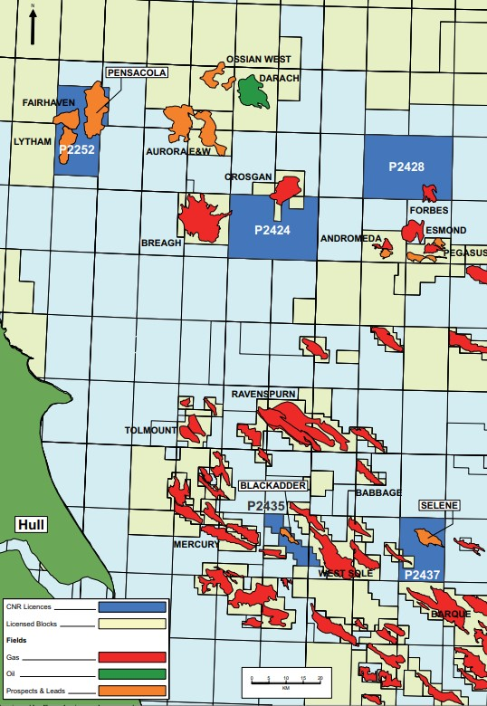 Deltic Energy's Southern North Sea assets, including the Selene prospect.