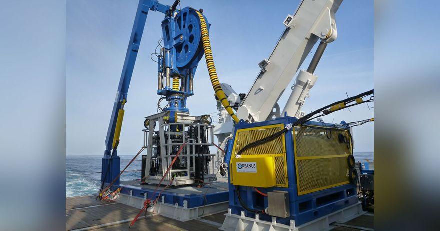 Okeanus Winch and LARS for JOGMEC deep-sea mining