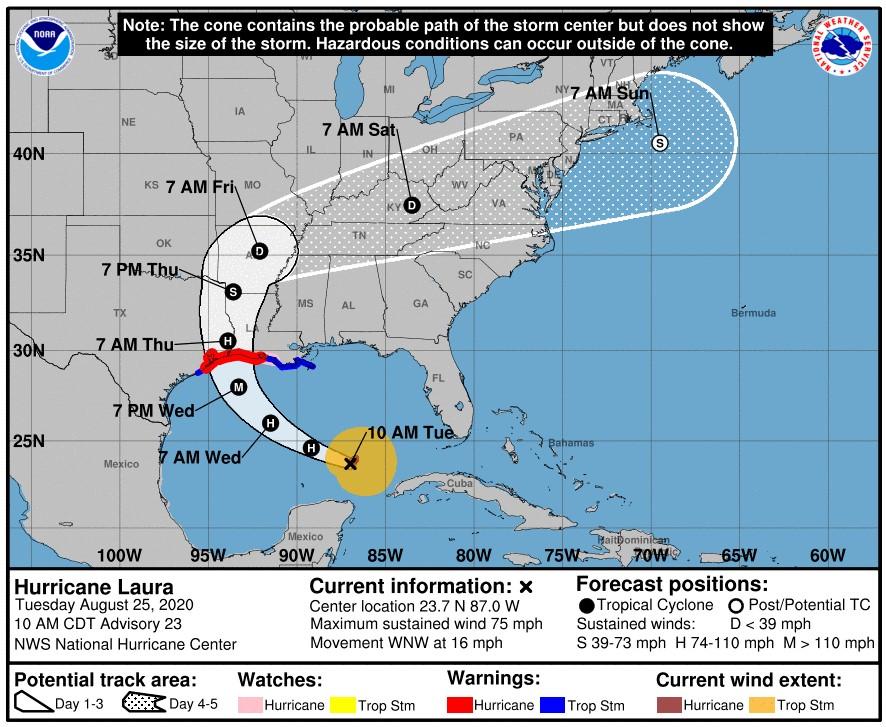 Hurricane Laura; Source: NOAA
