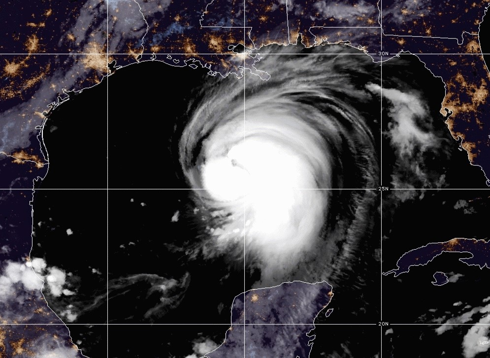 Hurricane Laura satellite imagery; Source: Weather.gov