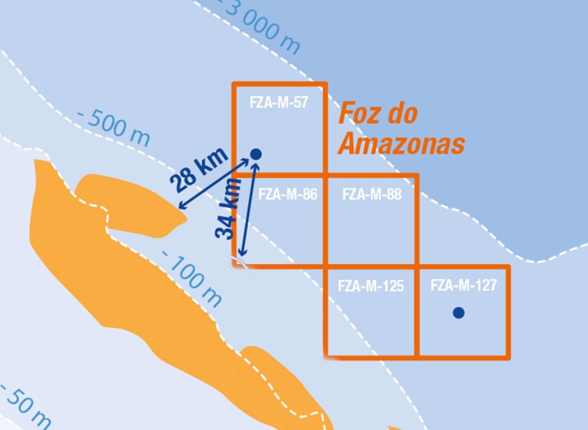 Foz do Amazonas blocks map; Source: Total