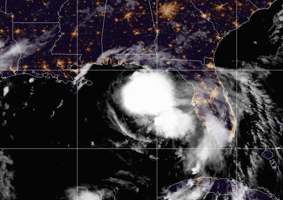 Storm Sally satellite image: Source: Hurricanes.org