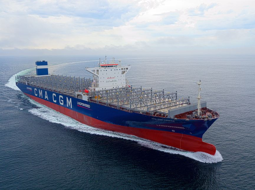 EPS takes delivery of first CMA CGM-chartered LNG containership
