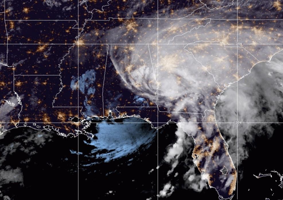 Hurricane Sally satellite image; Source: NOAA