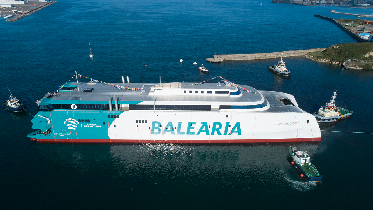 Baleària launches LNG-fueled ferry