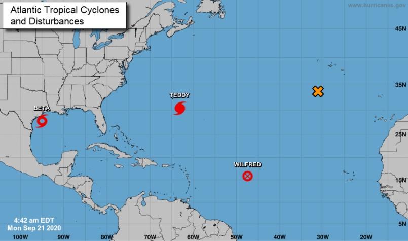 Location of Tropical Storm Beta; Source: National Hurricane Centre