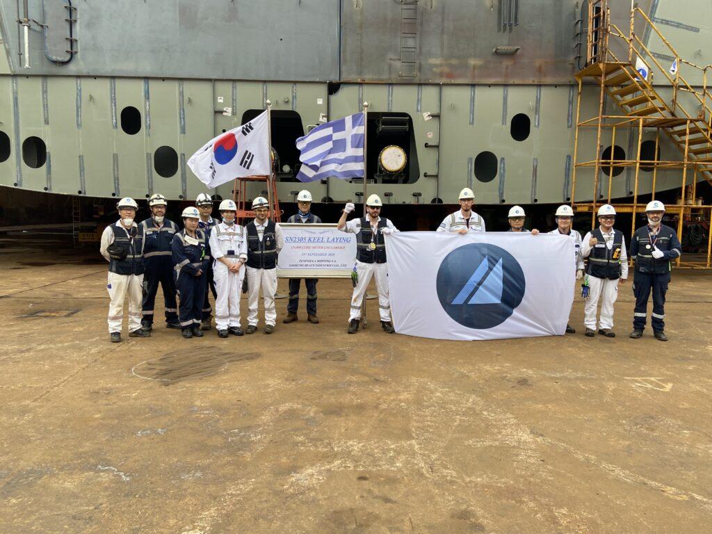 Minerva Gas lays keel for LNG tanker newbuild