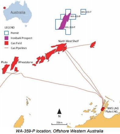 Location of Ironbark prospect; Source: Cue Energy BP