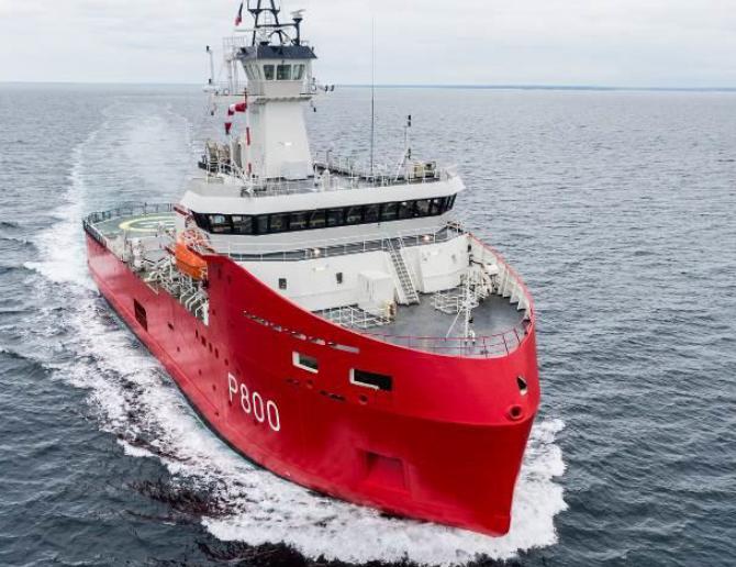 Polar logistics vessel L'Astrolabe