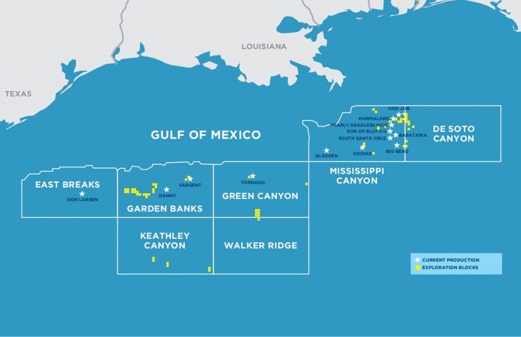 Kosmos Energy's Gulf of Mexico assets