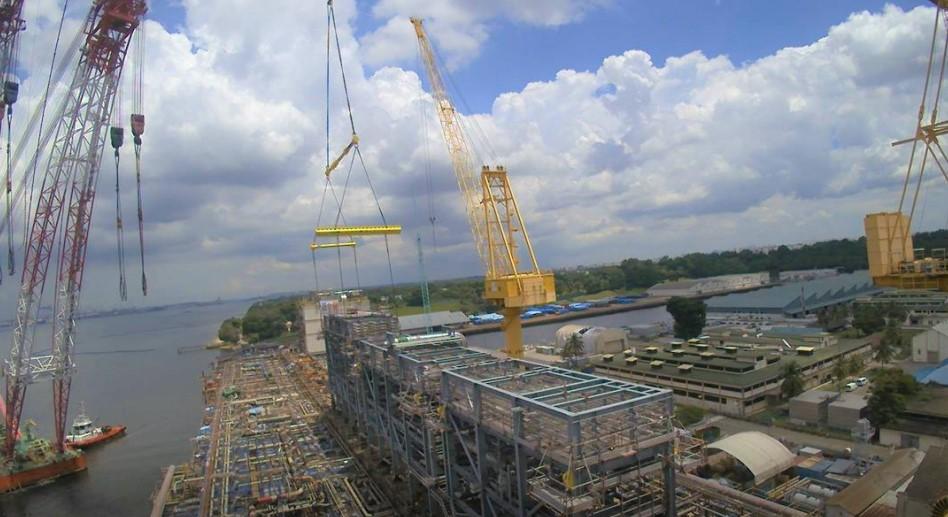 Pipe racks for the Energean Power FPSO; Source: Energean