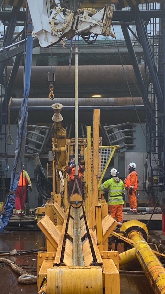 The drilling operations were conducted with coiled tubing, which is a continuous drill string coiled on a reel