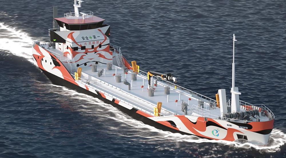 Zero-emission Electric-powered Tanker