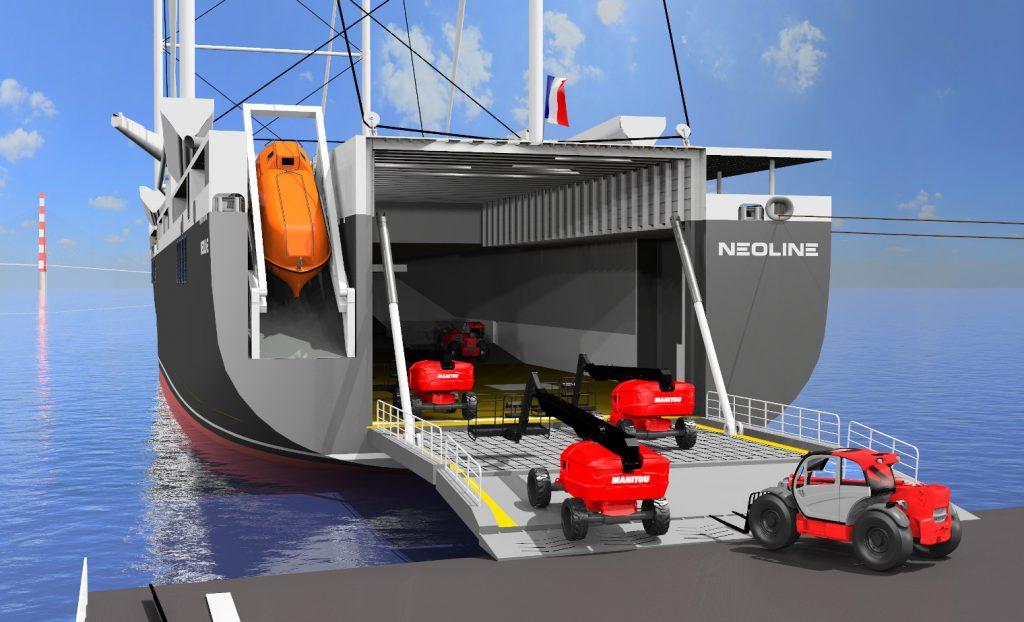 sailing cargo ship