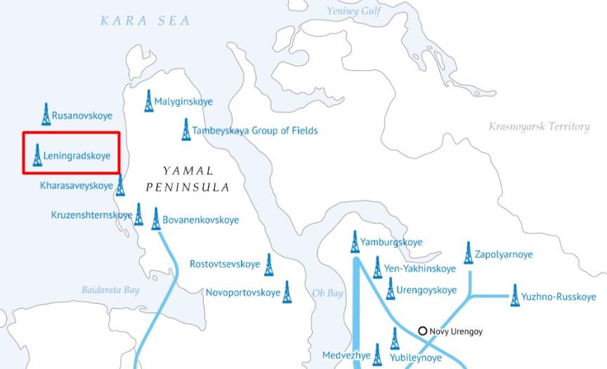 Location of Leningradskoye field; Source: Gazprom