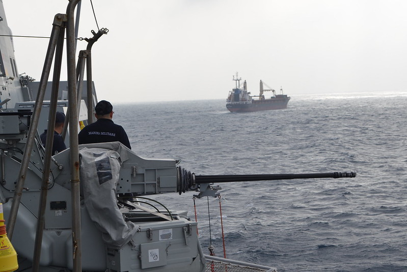 Illustration-MV MSM Douro's view from ITS Carabiniere 2; Image credit Op Atalanta/EUNAVFOR