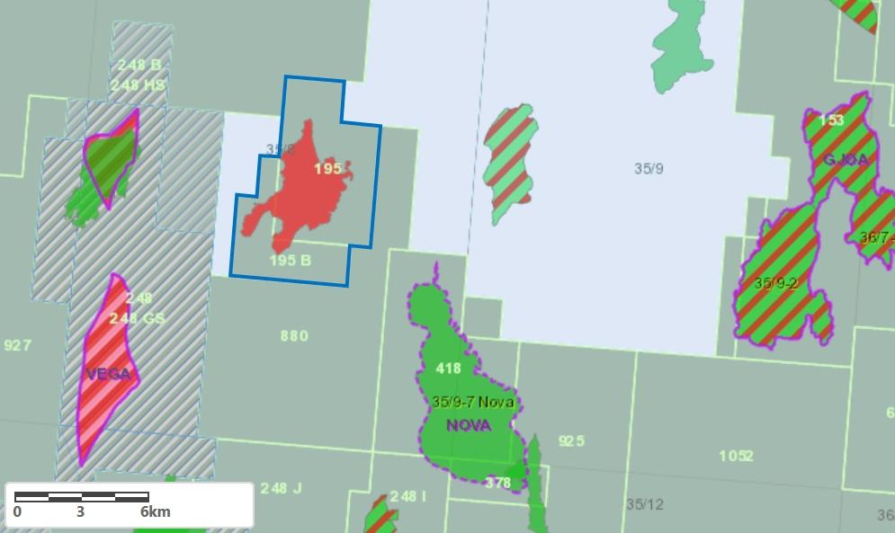 Location of licenses; Source: OKEA Equinor
