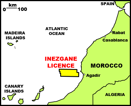 Inezgane license map; Source: Europa Morocco