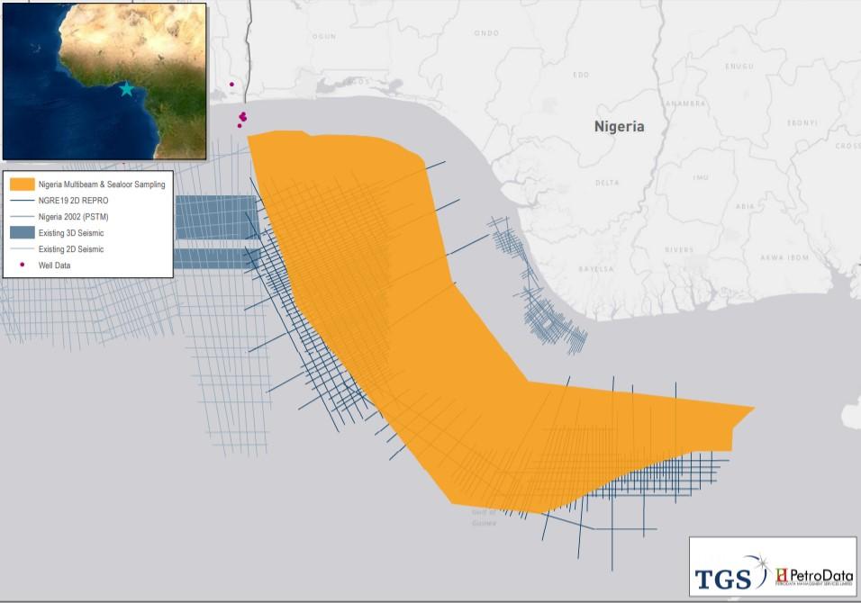 TGS Nigeria coring project map