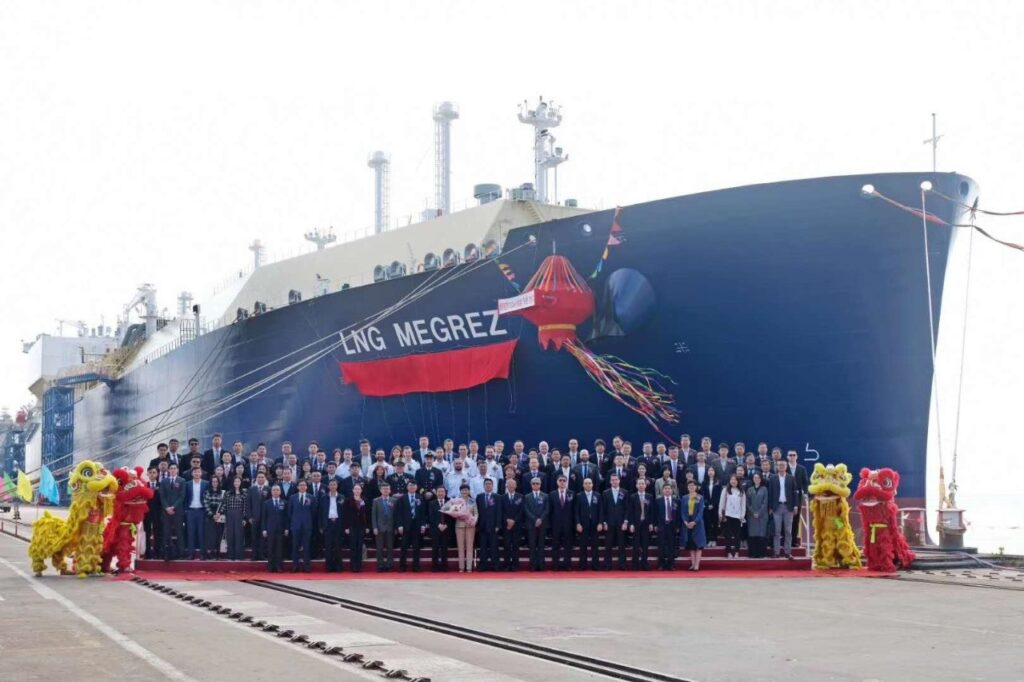 Final Yamal LNG carrier for MOL and Cosco named