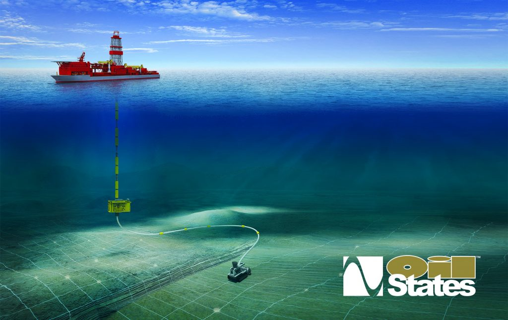 Above: Conceptual view of one configuration of a subsea mining package.  Oil States with RiserTec can assist in evaluation and design of a bespoke system, customized to operational requirements. With partners Oil States is an integrator of complete subsea mining systems.