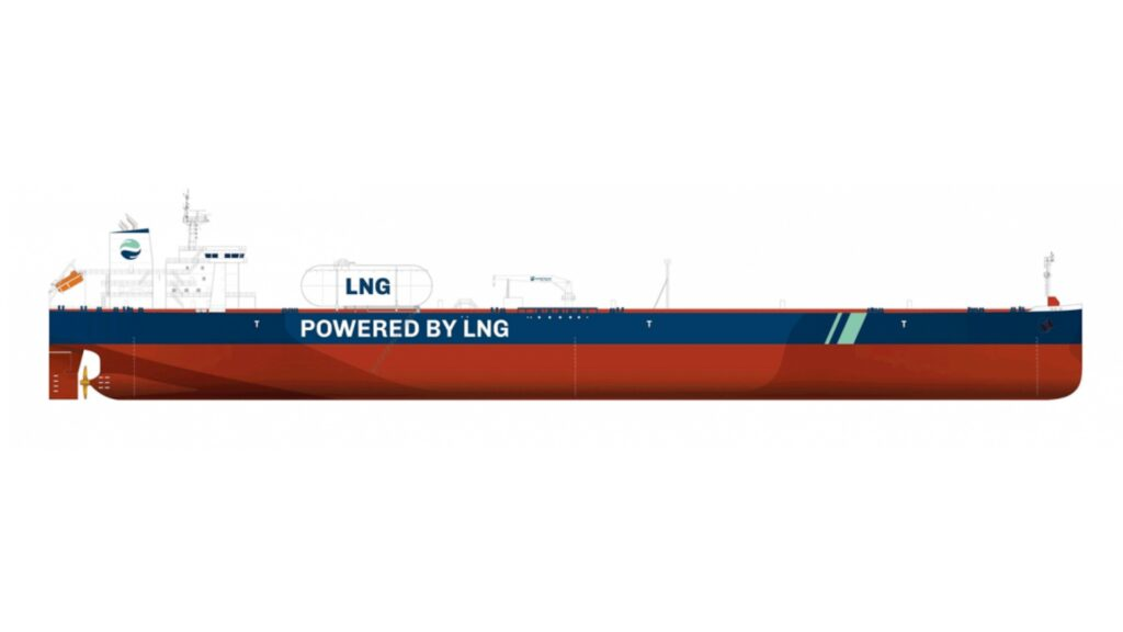 Total charters LNG-fueled Aframax quartet