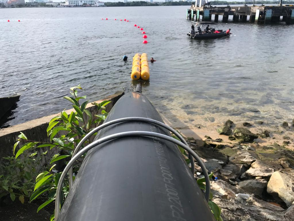 G8 Subssea cable lading in Singapore