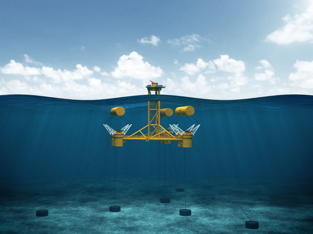 An image showing the full-scale WaveSub device concept (Courtesy of Marine Power Systems)