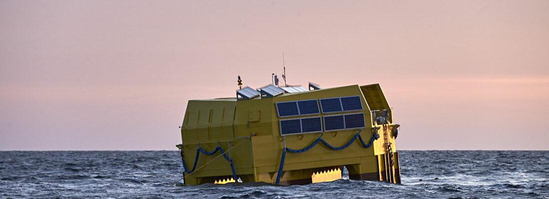 A photo of GEPS Techno's Wavegem platform (Courtesy of Jacques Vapillon/GEPS Techno)