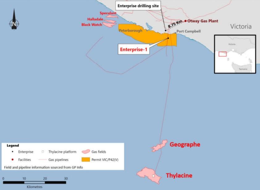 Enterprise 1 location map; Source: Beach Energy