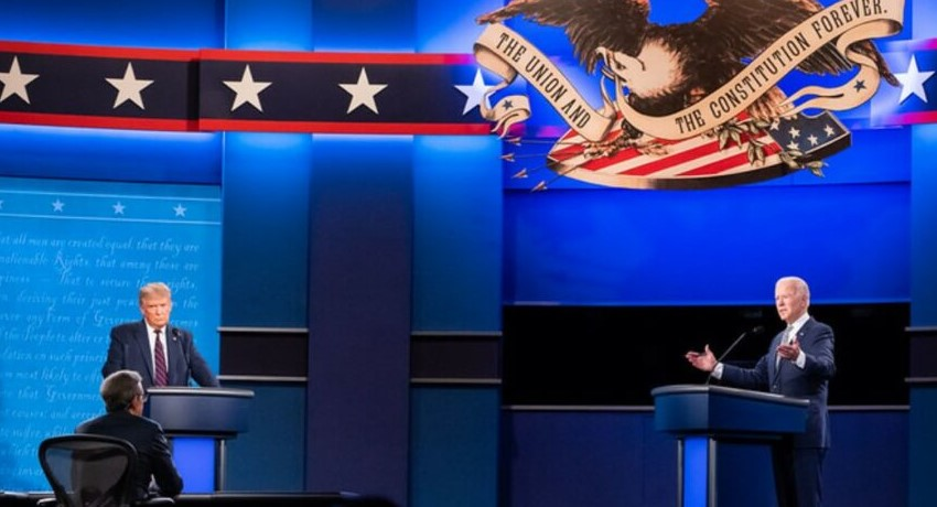 Trump-Biden debate; Source: Biden's campaign website