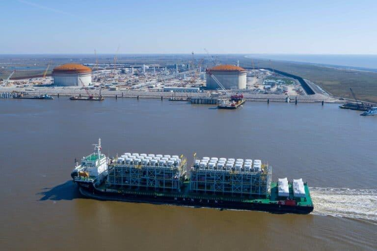 First two trains delivered to Venture Global's Calcasieu Pass LNG plant