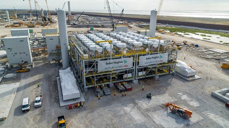 Calcasieu Pass LNG trains set on foundations