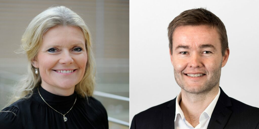 Peggy Krantz-Underland, Equinor's chief procurement officer, and Trond Bokn, acting senior vice president for project development in Equinor