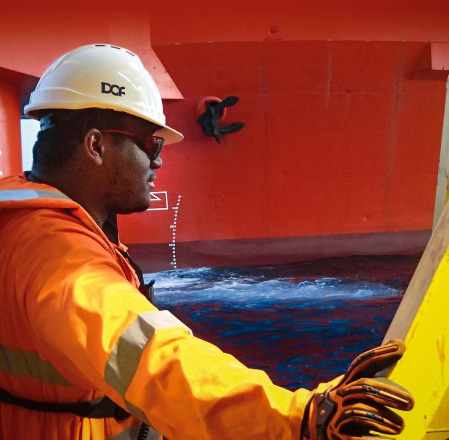 A photo illustration showing a DOF Subsea worker (Courtesy of DOF Subsea)