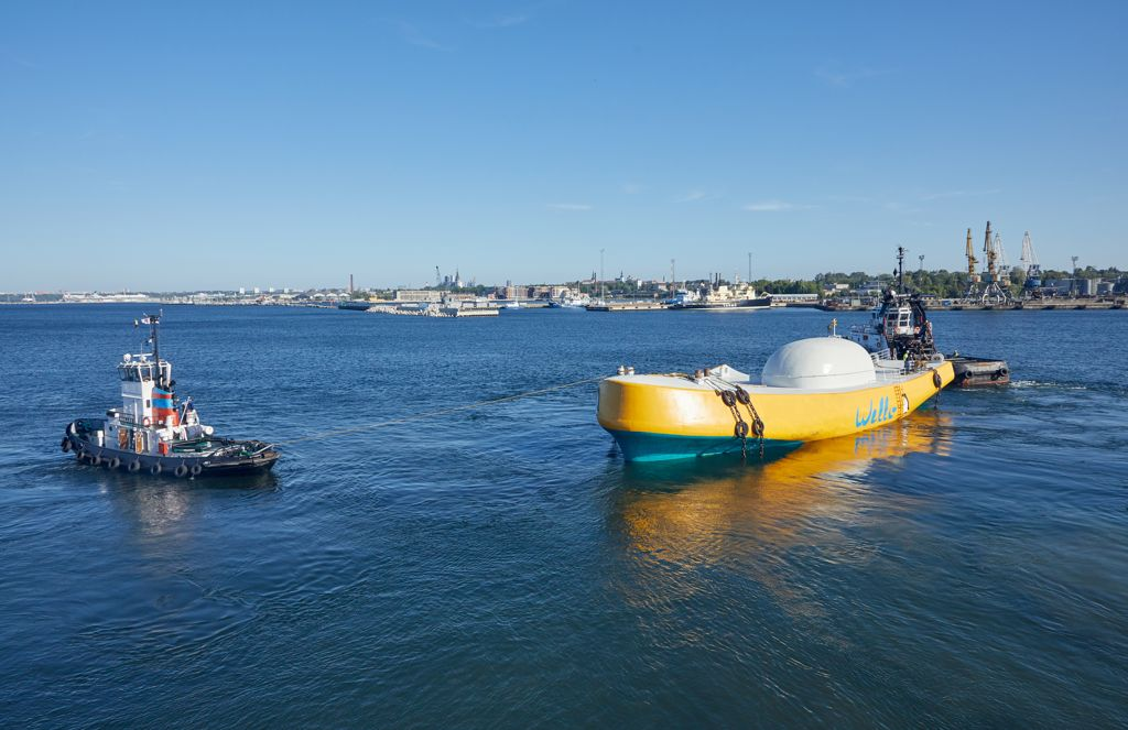 A photo of the Penguin wave energy device (Courtesy of Wello)