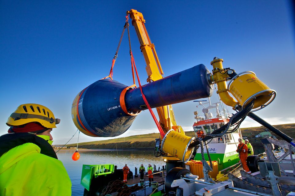 A photo of CorPower's C3 wave energy device (Courtesy of Colin Keldie/CorPower Ocean)