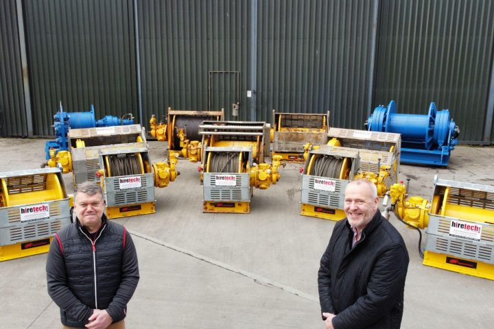 A photo showing Duncan Duthie (left), and Keith Mackie (right) (Courtesy of Hiretech Limited)