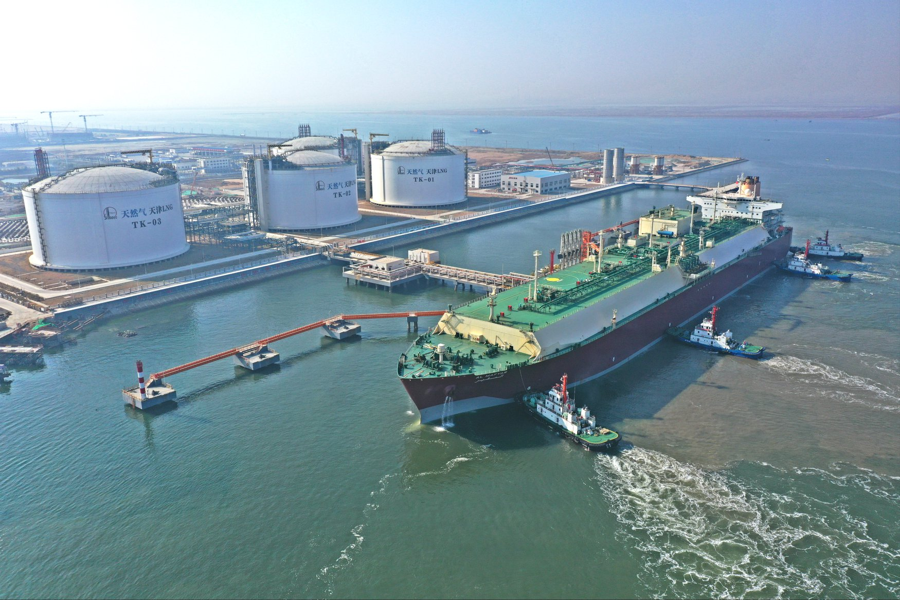 Sinopec unloads Q-Max at Tianjin LNG terminal