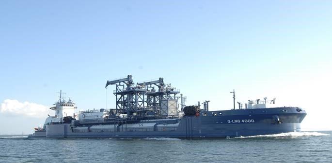 QLNG's 4000-cbm ATB completes sea trials