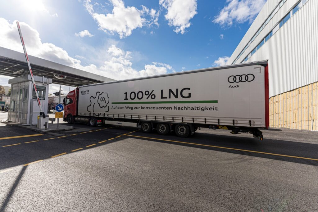 Audi deploys two LNG-fueled trucks at Neckarsulm site